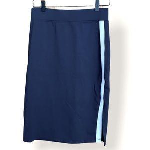 American Giant Ponte Pencil Navy Blue Skirt